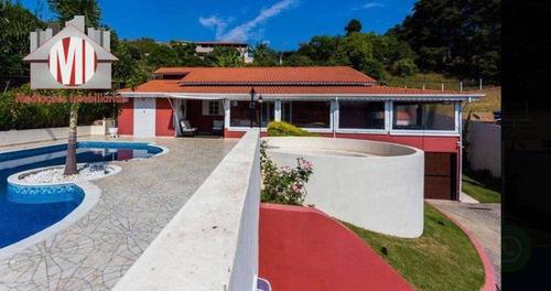 Imagem 1 de 15 de Chácara Maravilhosa, Com Escritura, 3 Dormitórios, Piscina, Pomar, Salão De Jogos, À Venda, 1100 M² Por R$ 750.000 - Zona Rural - Pinhalzinho/sp - Ch0822