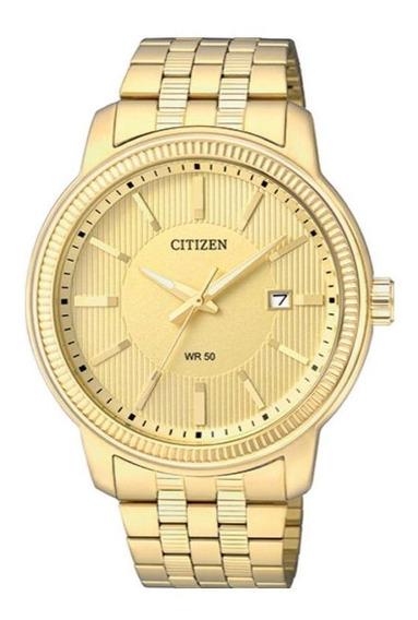 Relogio Masculino Clássico Dourado Citizen Tz20500g
