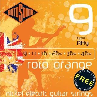 Encordado Guitarra Electrica Hibrido 09 Rotosound Rh9 Nicke
