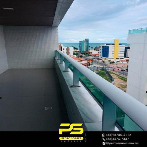 Imagem 1 de 13 de Cobertura Com 3 Dormitórios À Venda, 168 M² Por R$ 950.000 - Cabo Branco - João Pessoa/pb - Co0060
