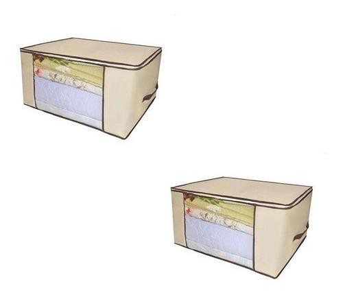 Imagem 1 de 2 de Kit 2 Caixa Organizadora Organizador Roup Coberta 60x45x30cm