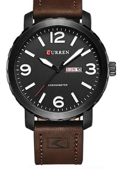 Relógio Masculino Curren 8273 Original Couro Calendário