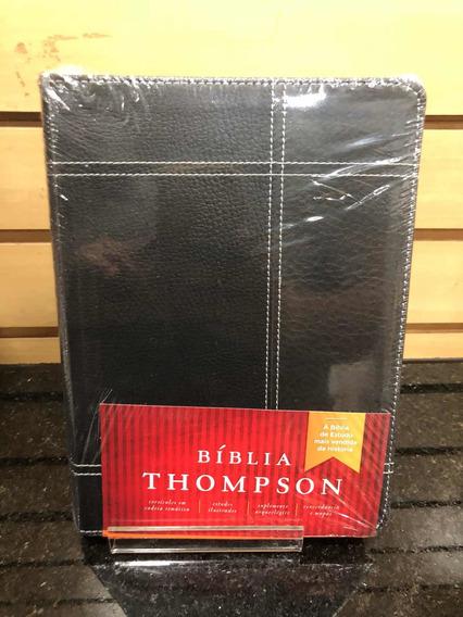 Biblia Estudo Thompson Média - Preta E Cinza
