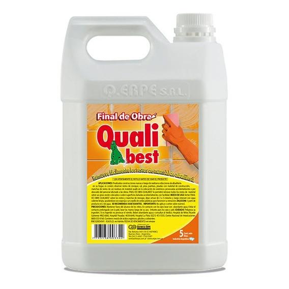 Limpiador Removedor Pastina Cemento Cal X 5 L Final De Obra