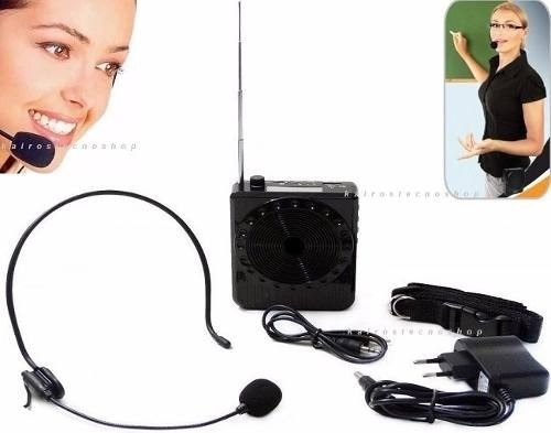 Amplificador De Voz Megafone Microfone Para Professores