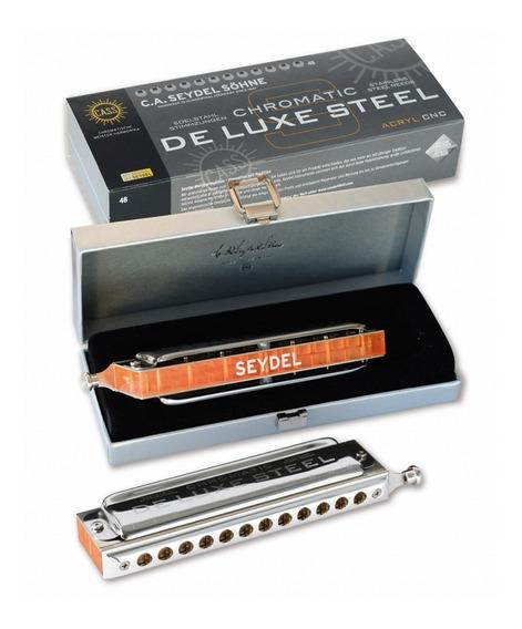 Armonica Seydel Cromatica De Luxe Steel 48 Voces Tono G Sol