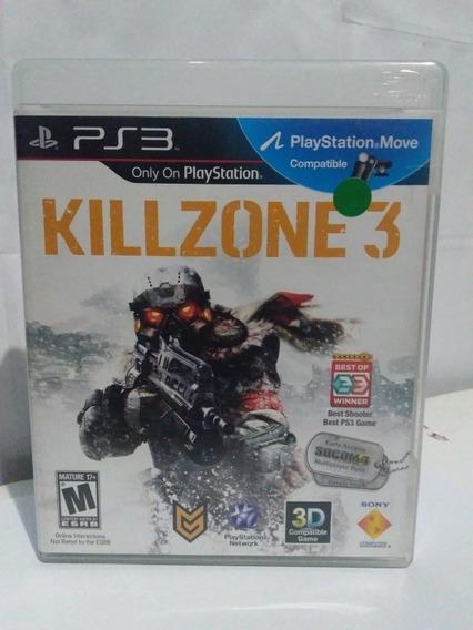 Jogo Killzone 3 Mídia Física Ps3 (compativel C/ Movie) R$45
