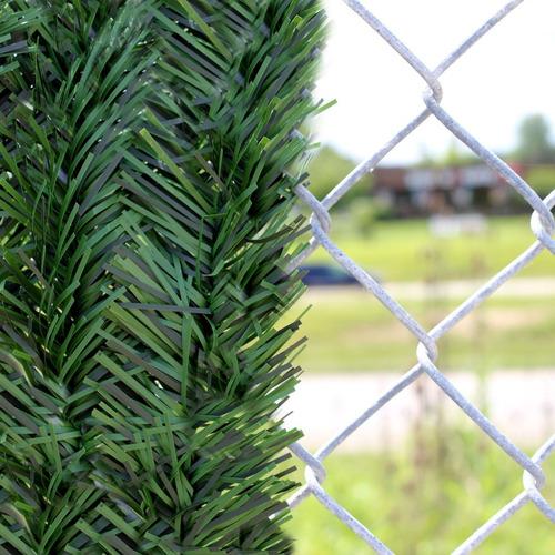 Cubre Cerco Vertical Artificial Muro Verde Alambrado X M2
