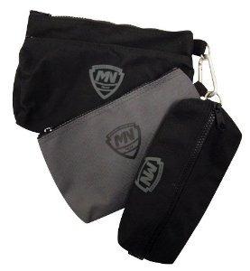 Mcguire Nicholas 31001 3 Pequeñas Bolsas Dos Negro Un Gris