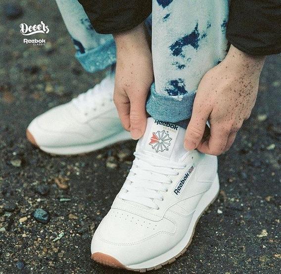Tenis Reebok Classic Leather Blanco + Envgratis