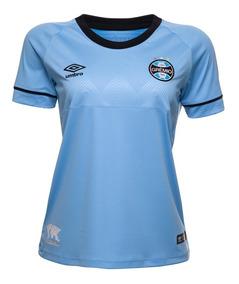 Camisa Feminina Oficial Umbro Grêmio Charrua 2018 3g160515