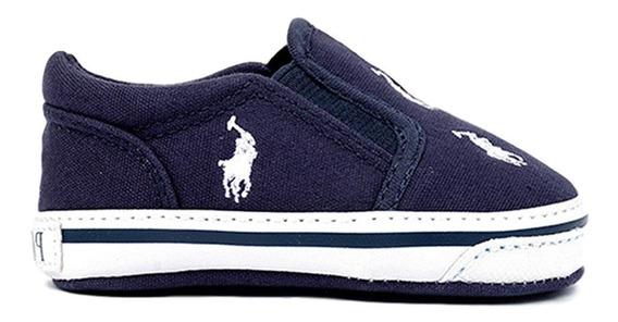 Tenis Polo Ralph Lauren Para Bebe Color Azul Oscuro