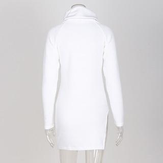 Dividido Outono Inverno Suéter Gola Olímpica Suéter Tricotad