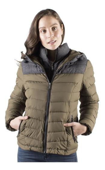 Chamarra Mujer Greenlander Pol6862 Gorro Fijo Ajustable