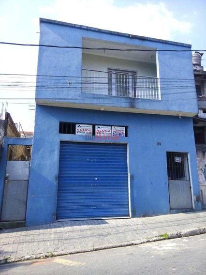 Sobrado 3 Dorms 1 Vaga Com Salão Comercial No Jardim Moreno - A7343