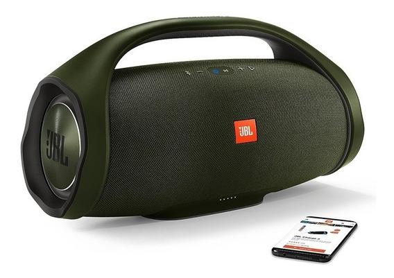 Jbl Boombox Verde Original Caixa Bluetooth Nfe Garantia Jbl
