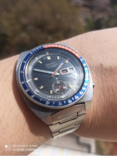 Espetacular Seiko Pogue 6139-6002 Crono Automático Original