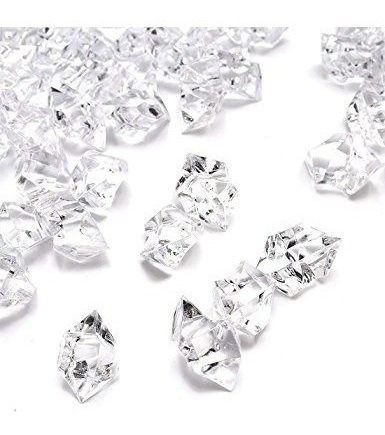 Imagen 1 de 4 de Domestar Cubos Hielo Falsa, 4.4lbs 1,000pcs Falsos Diamante