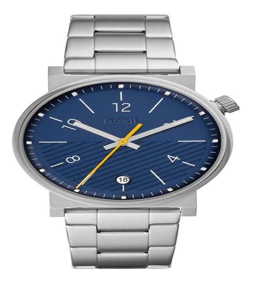 Relógio Fóssil Masculino Barstow Casual Prateado Fs5509/1kn