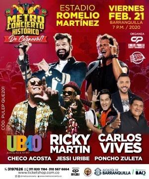 Boletas Platino Para Metroconcierto Carnaval De Barranquilla
