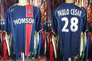 Paris Saint Germain 2004 Camisa Titular Gg #28 Paulo César.