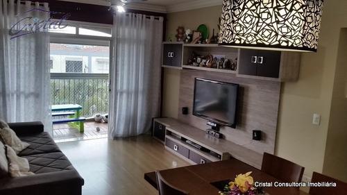 Imagem 1 de 25 de Apartamento Para Venda, 3 Dormitórios, Vila Polopoli - São Paulo - 22266