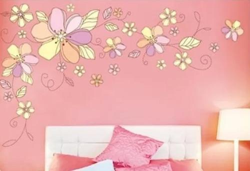 Vinilos Adhesivos Decorativos Flores Coloridas Jm7183ab