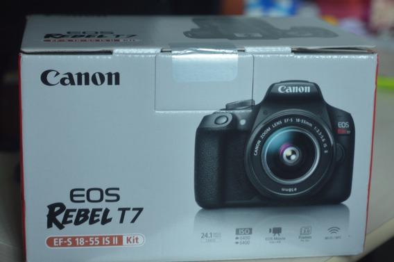 Câmera Canon Eos Rebel T7 Com Lente 18-55mm Is Ii