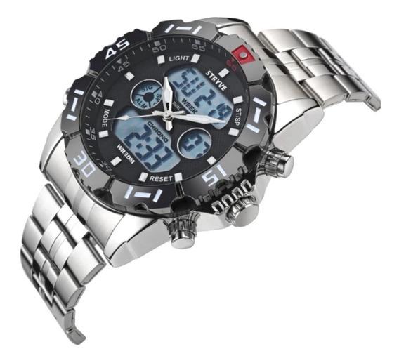Relógio Masculino Digital E Analógico Stryve 8011