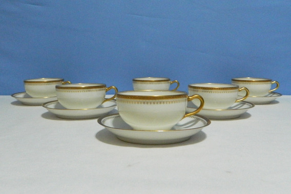 Juego De 6 Tazas Para Té Porcelana Limoges Theodore Haviland