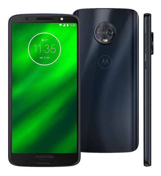 Celular Motorola G6 Plus Xt1926 64gb 12mp 5.9 Tv Índigo