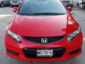 Honda Civic 2012 Coupe 5vel Rojo Servicios De Agencia