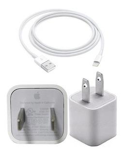Cargador + Cable iPhone 5 6 7 8 X Xs Xr Max 1 Metro Sellados /originales + Cable Reforzado Y Adaptador De Regalo