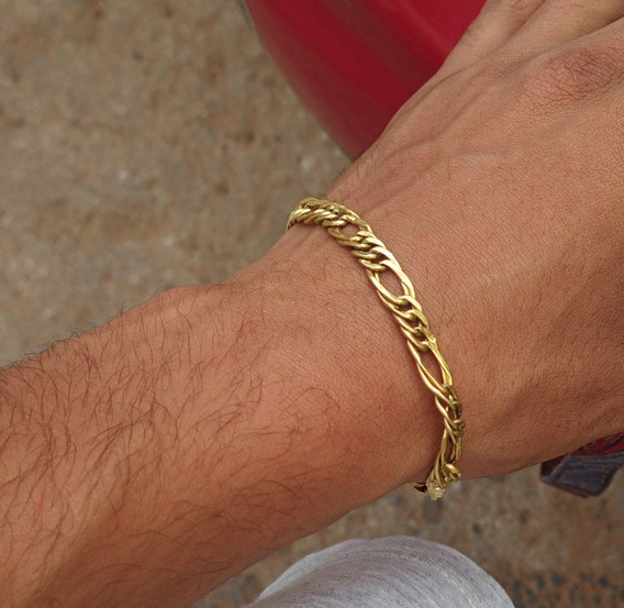 Pulseira Ouro 18k 19 Cm 5.6gr Masculina