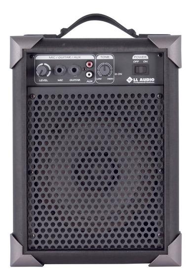 Caixa De Som Amplificada Microfone/guitarra Lx40