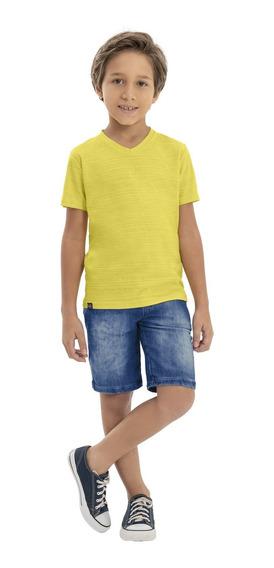 Camiseta Infantil Em Malha Flame Menino Quimby