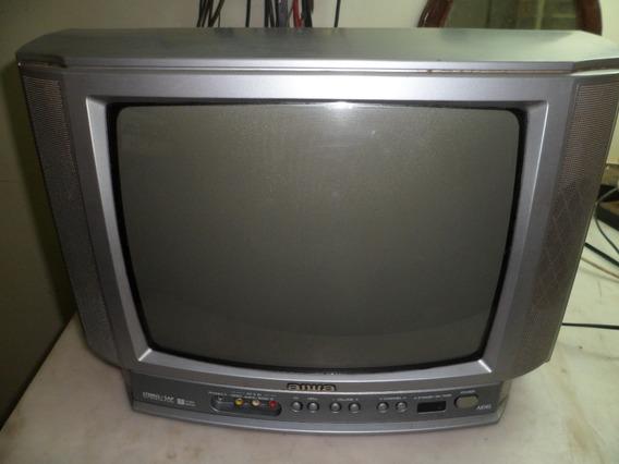 Tv De Tubo Aiwa 14 Polegadas Funcionando Reliquia