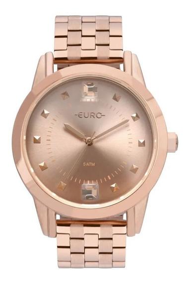Relógio Euro Dourado Feminino Analógico Fashion Eu2035yrs/4j