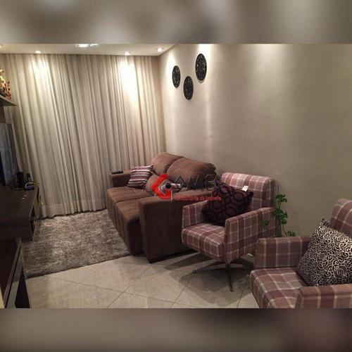 Apartamento Com 3 Dormitórios À Venda, 60 M² Por R$ 320.000,00 - Parque João Ramalho - Santo André/sp - Ap2246