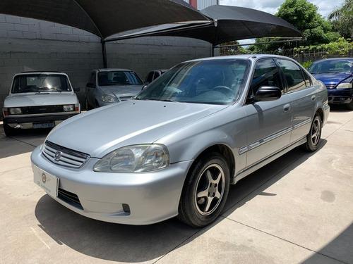 Honda Civic 1.6 Lx Aut. 2000 Prata Gas.