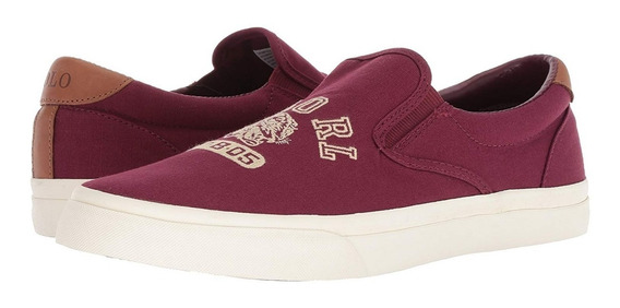 Exclusivos Tenis Polo Ralph Lauren Thompson Vino 10mx 12us