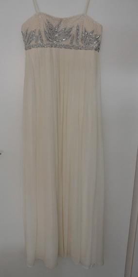 Vestido Largo De Fiesta Blanco Importado