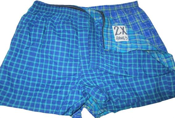 Calzones Boxer Azules Estampados Talla 2x Hanes