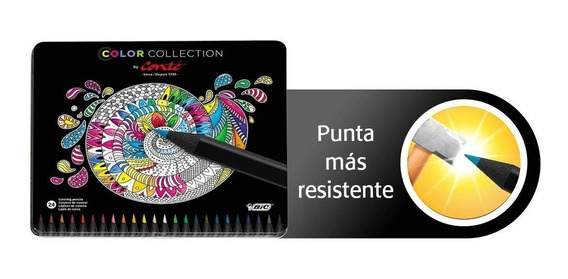 Estuche Bic Color Collection Colores 24 Pzas Escuela Dibujo