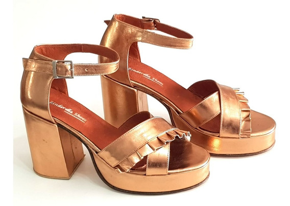 Sandalias Plataforma Números 41 4243 44 Zinderella Shoes