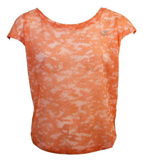 Remera Topper Trng Light Mujer Naranja