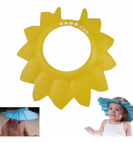Sombrero Gorro De Baño Ajustable Para Bebe Mifanqi Amarillo