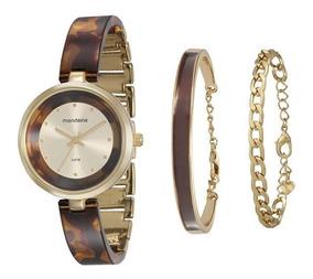 Relógio Mondaine Feminino Kit Semijóia 76611lpmkdf2k1