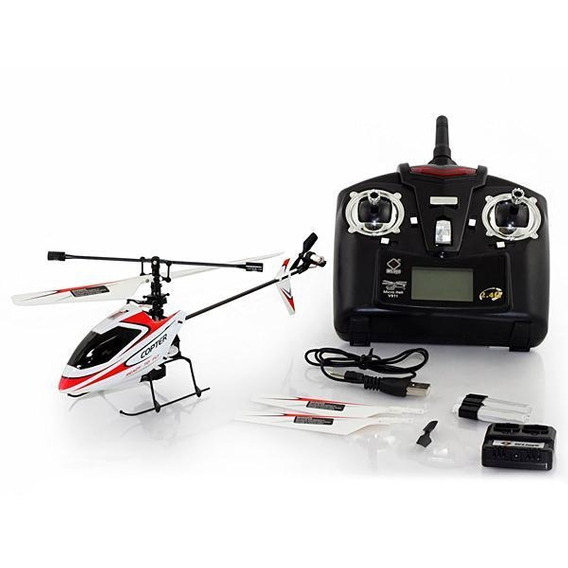 Drone Wltoys Micro Copter V911 Helicopter 2.4ghz 4 Ch Vermel