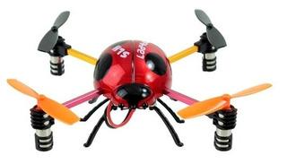 Mini Cuadricoptero Ladybug Mariquita Sh 6043 4ch 4 Axis
